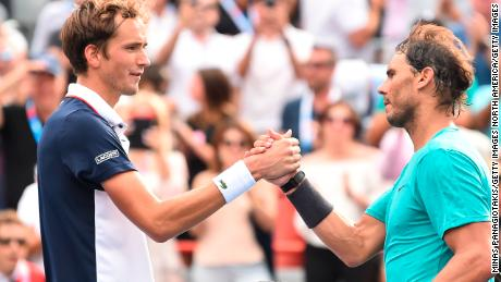 When they met at the Rogers Cup in August, Rafael Nadal beat Daniil Medvedev.
