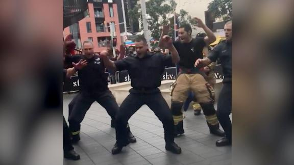 NZ firefighters perform 'haka' tribute to 9/11 first responders