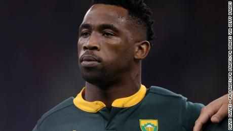 South Africa's springbok captain Siya Kolisi