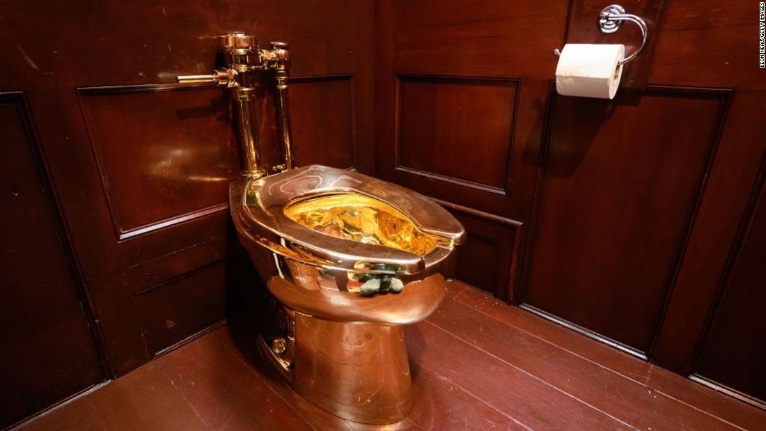 固体金トイレ盗からのブレナム宮殿があります。