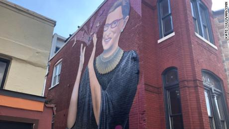 New mural of Ruth Bader Ginsburg pops up in Washington
