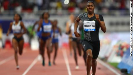 Caster Semenya wins the women's 800m during the IAAF Diamond League event at the Khalifa International Stadium on May 3 in Doha.