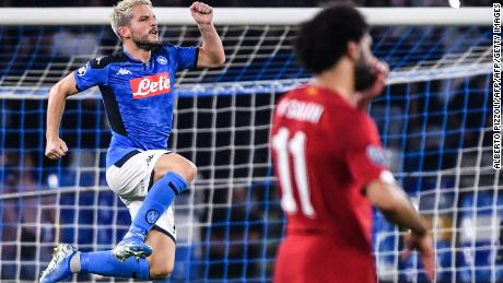 Napoli's Belgian forward Dries Mertens gave the Serie A team the lead.