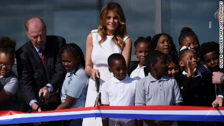 Melania Trump cuts ribbon on reopened Washington Monument