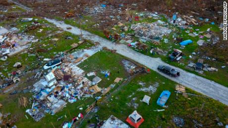Countless houses were shredded to pieces in the eastern half of Grand Bahama island.