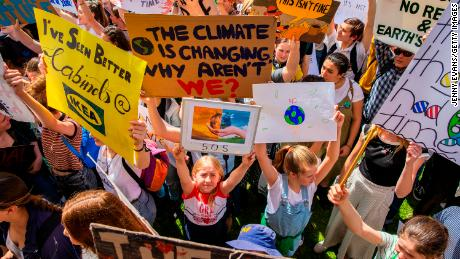 Teen activist tell protesters demanding action on climate change: 'We need to do this now.'