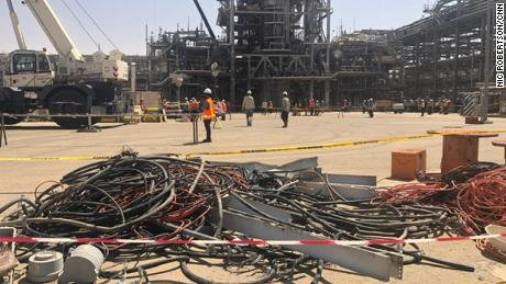 CNN's Nic Robertson visited the oil facility in Khurais on Friday,  to see the extent of the damage the attack caused.