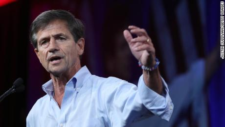Former US Rep. Joe Sestak speaks during the Democratic Presidential Committee summer meeting