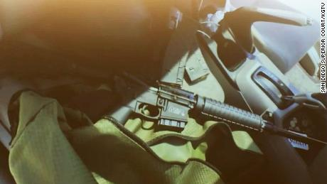 A photo of the gun left in the car was shown in court.