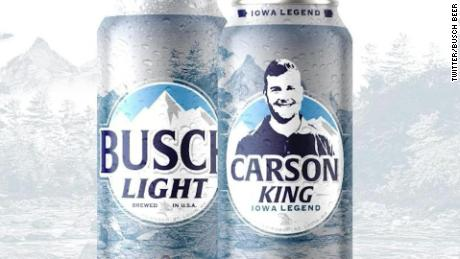 This was what the Anheuser-Busch Carson King can would have looked like.
