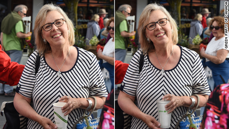 Canada's Green Party admits editing photo of leader holding disposable cup