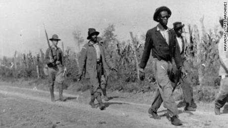 African-American men taken prisoner during the Elaine Massacre by U.S. Army troops sent from Camp Pike