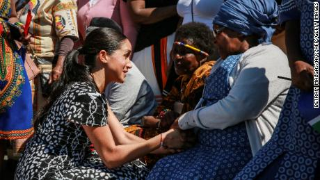 Harry and Meghan visit South Africa where women and children are under siege