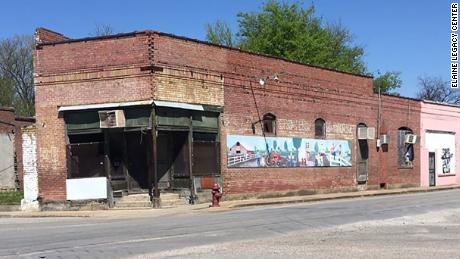 This building on Main Street, will be restored as Elaine's Welcome Center. It stands in one of the town's busiest roads