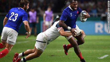 Alivereti Raka scored his first try for France in only his second game for his adopted country.