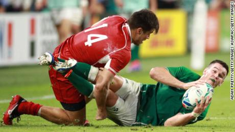 Johnny Sexton returned to the Ireland lineup after injury forced him to miss the game against Japan.