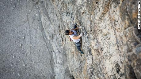 Arnold climbed the same route three times with ropes before attempting the free solo.
