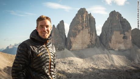 Dani Arnold stellt im September 2019 an der Grossen Zinne eine neue Rekordzeit auf. Der Mammut Pro Team Athlet besteigt die Nordwand ueber die Comici-Dimai-Route in 46 Minuten und 30 Sekunden. Damit haelt der 35-Jaehrige an vier der sechs grossen Nordwaende Europas den Speed Rekord.(PPR/Mammut)