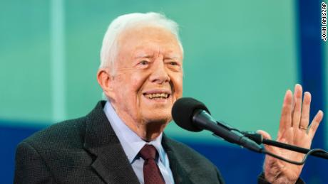 Former President Jimmy Carter at an annual Carter Town Hall held at Emory University in Atlanta