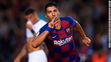 Luis Suarez opened the scoring with a stunning acrobatic effort.