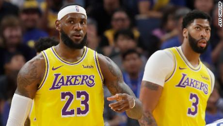 The Los Angeles Lakers are due to play Brooklyn Nets in Shanghai on Thursday and Shenzhen on Saturday.