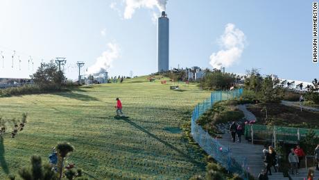 The Copenhagen artificial ski slope atop a power plant is now open
