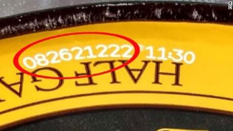 The code can be found on top of lid.