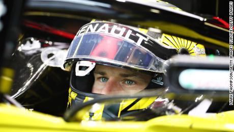 Hulkenberg prepares to drive at the Italian Grand Prix in Monza.
