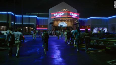 Gwinnett Place Mall in Duluth, Georgia decorated as the Starcourt Mall from Stranger Things 3.
