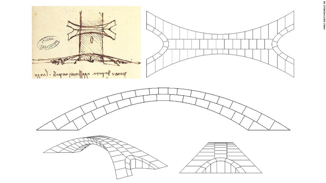 Insinyur diuji Leonardo da Vinci desain jembatan. Berikut ini adalah cara mengangkat