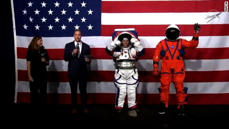 NASA shows off new spacesuit and Orion Crew Survival System suit