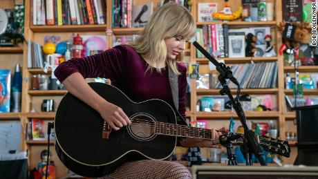 Taylor Swift Performs for NPR's Tiny Desk Concert Series