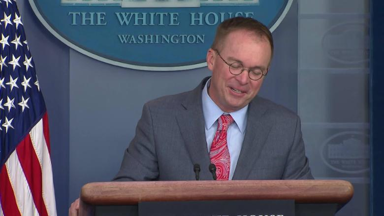 Republican leader struggles to defend Mulvaney quid pro quo press conference remarks