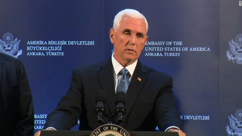 Turkey to suspend Syria offensive, Mike Pence announces