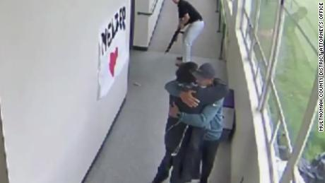 Dramatic Footage: Coach Disarms then Embraces Student, Preventing Potential School Shooting