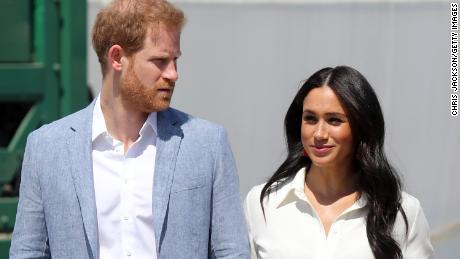 Prince Harry and wife, Meghan, Sussex visit a Johannesburg township in South Africa hours after the Duke of Sussex issued a statement blasting the media's coverage of the couple.