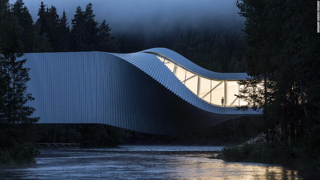 This Norwegian bridge is also an art museum