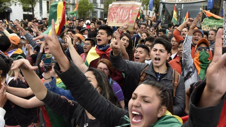 Bolivia's Morales knocks foes amid protests over vote count