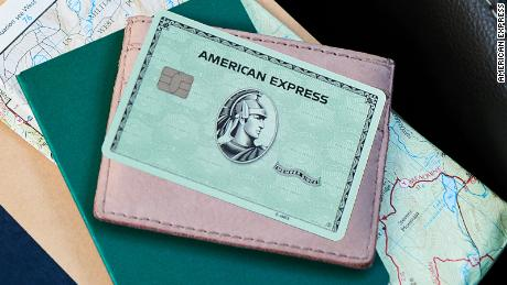 The redesigned Green from Amex card.
