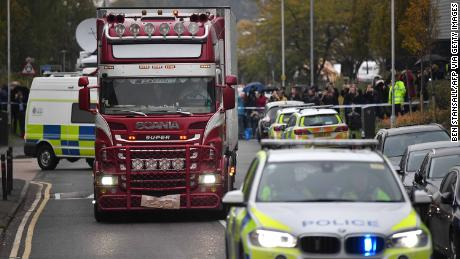 Police identify 39 people found dead in truck as Chinese nationals