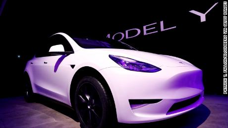 The Tesla Model Y, now due to be available next summer.