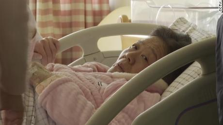 67-year-old mother in hospital room. A 67-year-old woman gave birth to a baby girl in east China's Shandong Province on Friday, possibly making the woman and her husband, 68, the oldest couple in the country known to have a naturally conceived a baby.