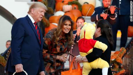 Trump Welcomes Dinosaurs To The White House for Halloween