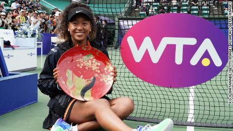 Naomi Osaka pulled out of the WTA Finals due to injury Tuesday. But before then, she won a title at home in Japan last month.