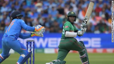 Shakib Al Hasan (right) was the third highest run scorer at the 2019 Cricket World Cup.