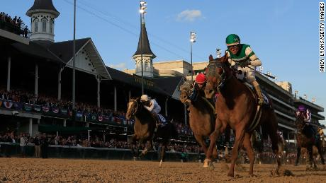 Joel Rosario rode Accelerate to victory in the Breeders' Cup Classic at Churchill Downs, Kentucky in 2018.