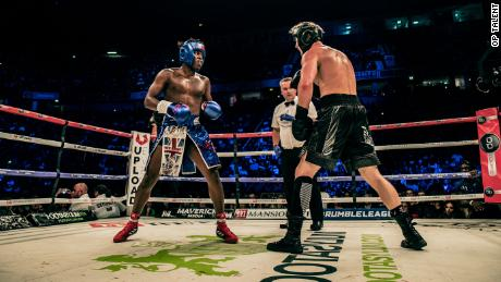 KSI and Paul face off in their first fight in Manchester.