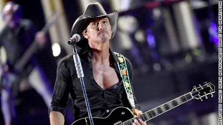 Tim McGraw performed onstage during the 2019 iHeartRadio Music Festival at T-Mobile Arena on September 20, 2019, in Las Vegas.
