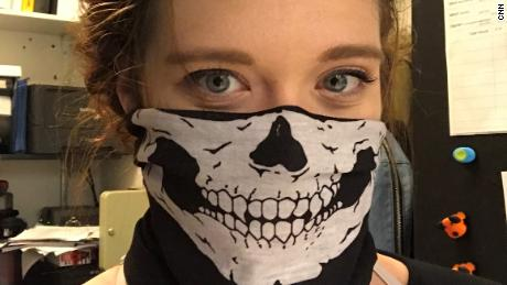 Samantha took this selfie during her involvement with racist groups. She  said later it took some time to come to terms with what she had done.