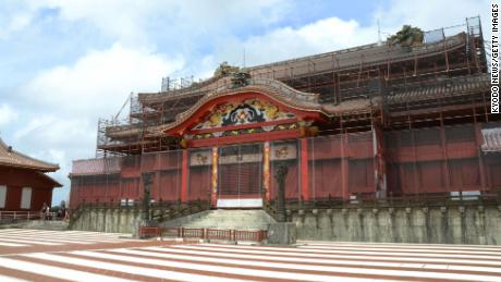 Japan's historic Shuri Castle engulfed by flames